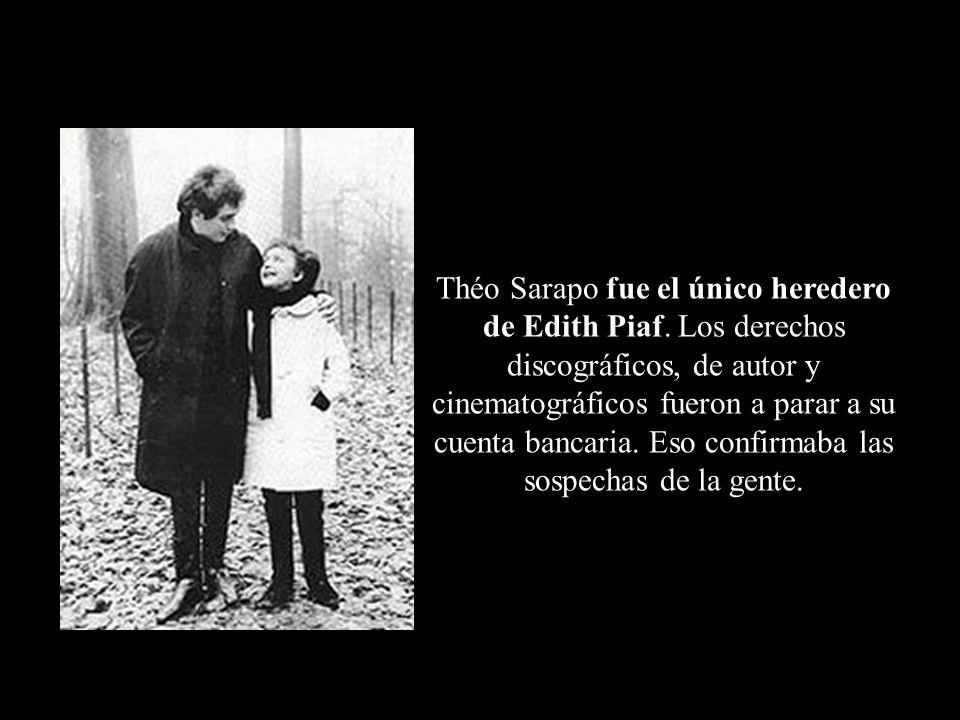 Edith con Théo SarapoFotografía tomada poco antes de morir