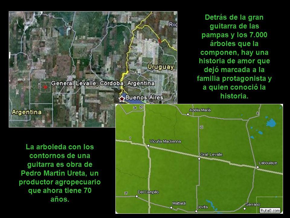 Los pilotos miran a menudo con incredulidad cuando vuelan por primera vez sobre la localidad de General Levalle, en la provincia de Córdoba. Las férti