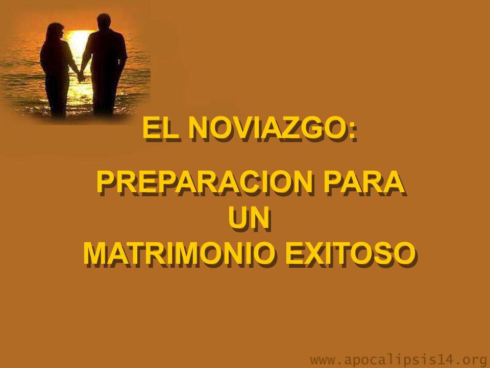 EL NOVIAZGO: PREPARACION PARA UN MATRIMONIO EXITOSO EL NOVIAZGO: PREPARACION PARA UN MATRIMONIO EXITOSO