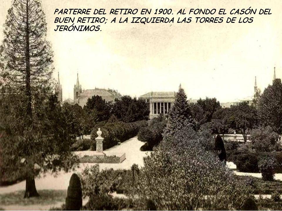 PARTERRE DEL RETIRO EN 1900.