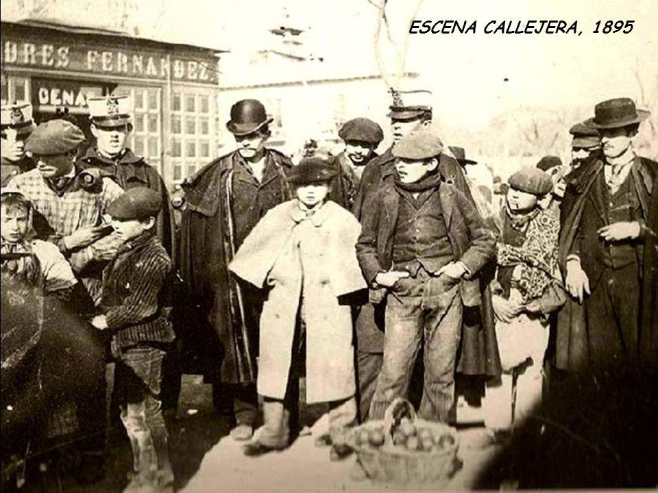 PUENTE SOBRE EL MANZANARES. ARENEROS CARGANDO ACÉMILAS Y CHIQUILLOS BAÑÁNDOSE, 1910