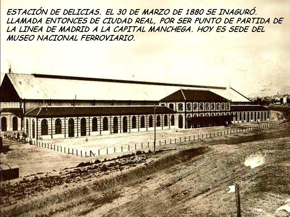 PATIO DEL CUARTEL DE LA MONTAÑA, 1910.COMENZADO A CONSTRUIR EN 1860 Y TERMINADO EN 1863.