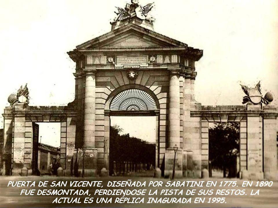 PUERTA DE SAN VICENTE, DISEÑADA POR SABATINI EN 1775.