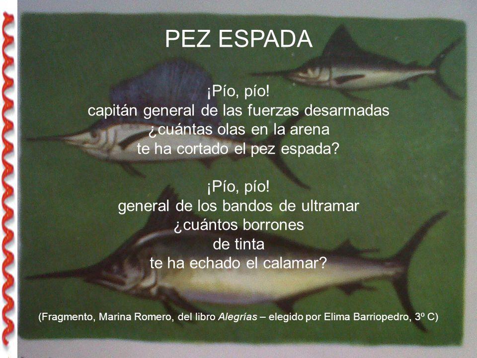 PEZ ESPADA ¡Pío, pío.