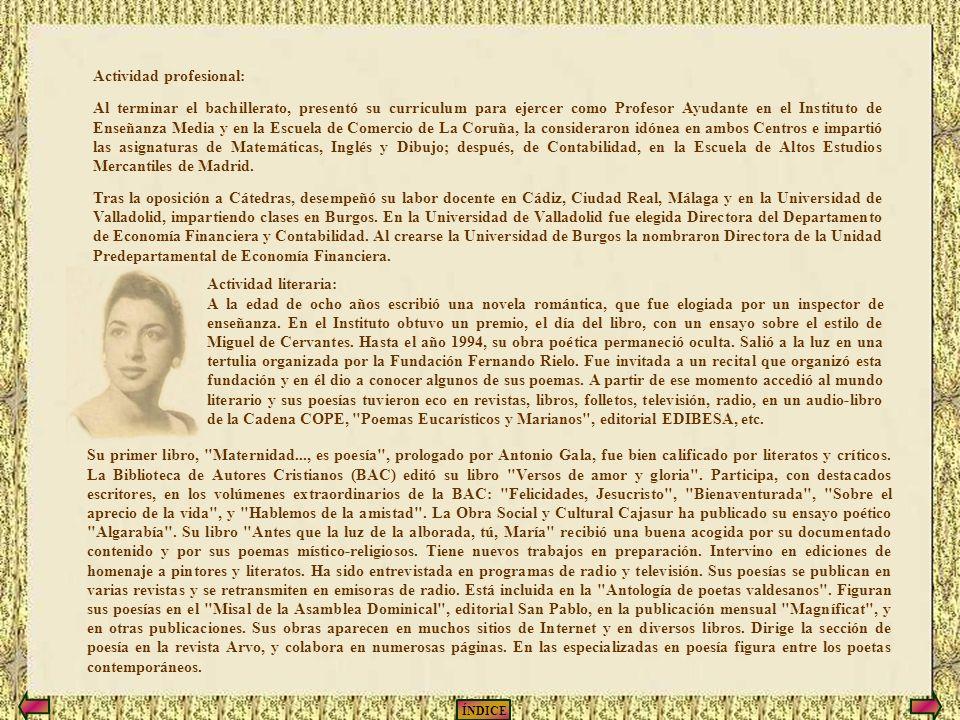 ÍNDICE CURRICULUM VITAE DE EMMA-MARGARITA R.