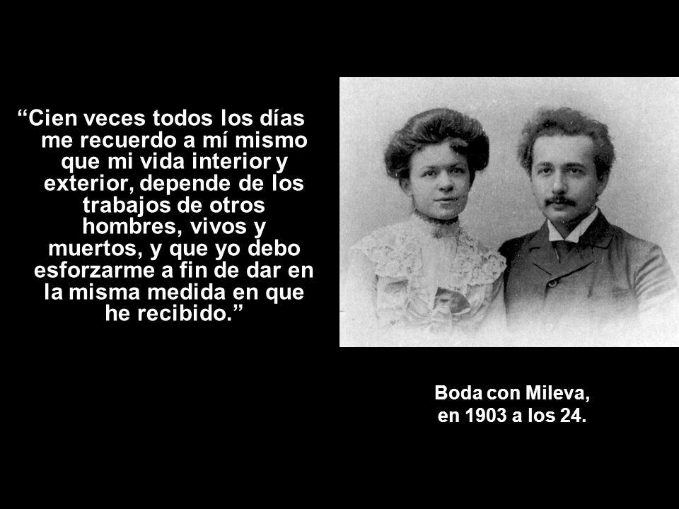 Boda con Mileva, en 1903 a los 24.