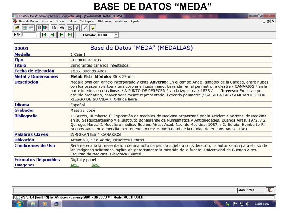 BASE DE DATOS MEDA