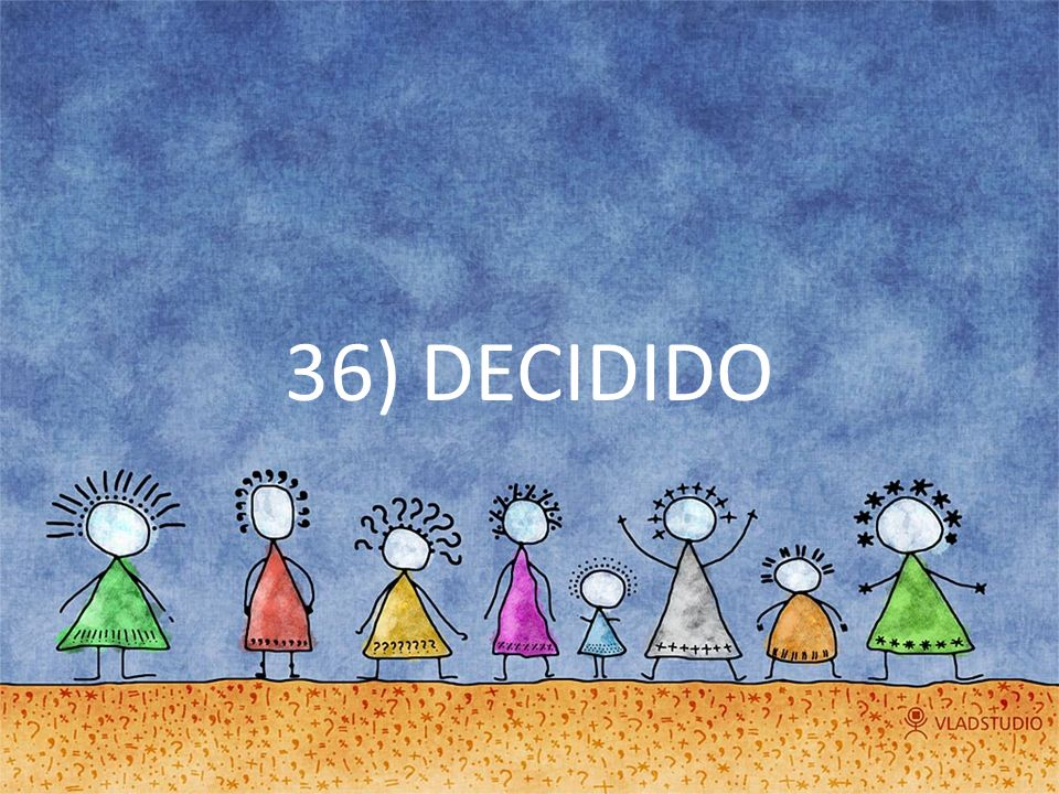 36) DECIDIDO