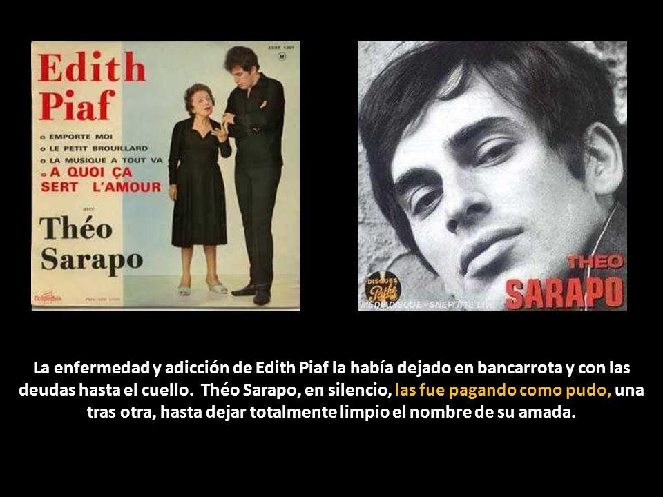 Sin embargo, 7 años después Théo Sarapo volvió a ser noticia de primera plana en los periódicos. Se había suicidado. Sobrevivió hasta agotar la fabulo