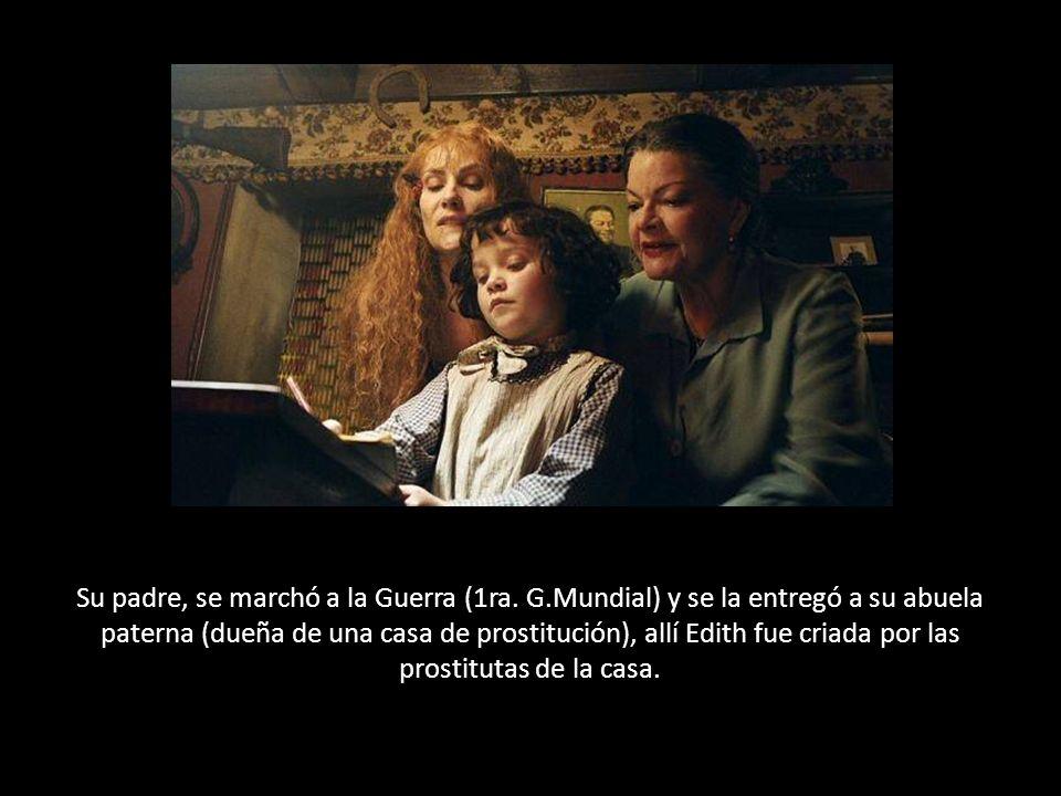 En su mesa de noche hallaron una tarjeta que decía: Pour toi Edith, mon amour.