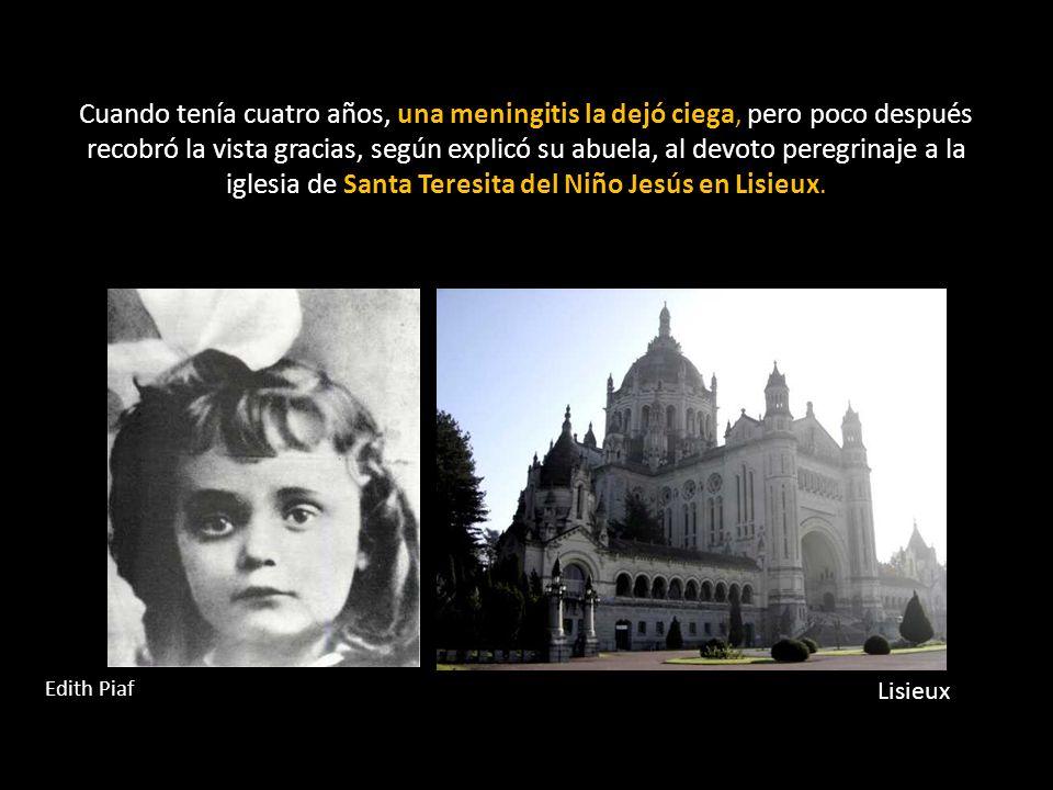 Cuando tenía cuatro años, una meningitis la dejó ciega, pero poco después recobró la vista gracias, según explicó su abuela, al devoto peregrinaje a la iglesia de Santa Teresita del Niño Jesús en Lisieux.