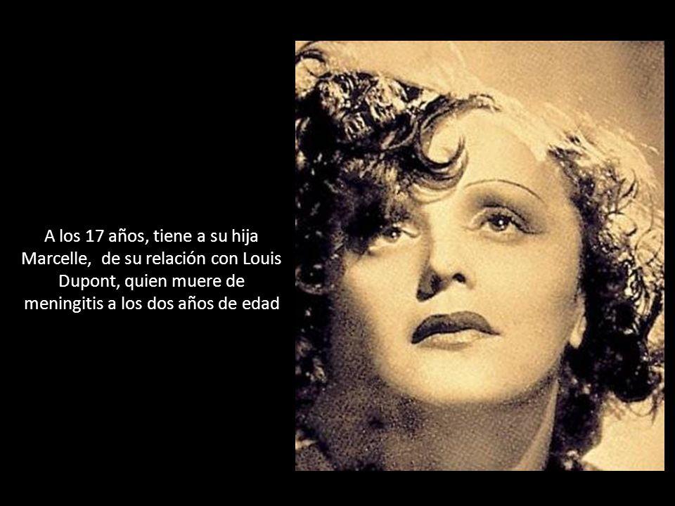 Al año de casada con Theo, en 1963, Edith Piaf murió a la edad de 47 años, por una cirrosis avanzada y con sus facciones deterioradas debido a la morfina.