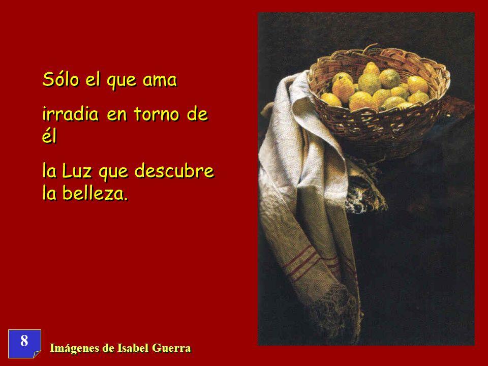 8 Imágenes de Isabel Guerra Sólo el que ama irradia en torno de él la Luz que descubre la belleza.