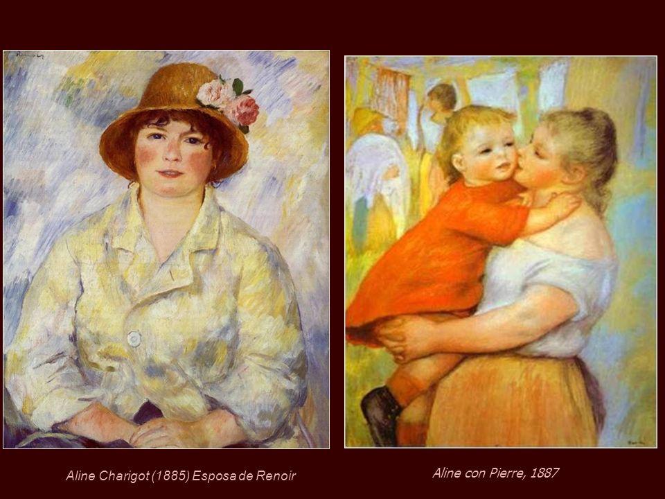 En 1890, a la edad de 49 años, Renoir se casó con Aline Charigot de 26 con quien tuvo tres hijos: Pierre, Jean y Claude (Coco). Pierre Renoir 1890Jean