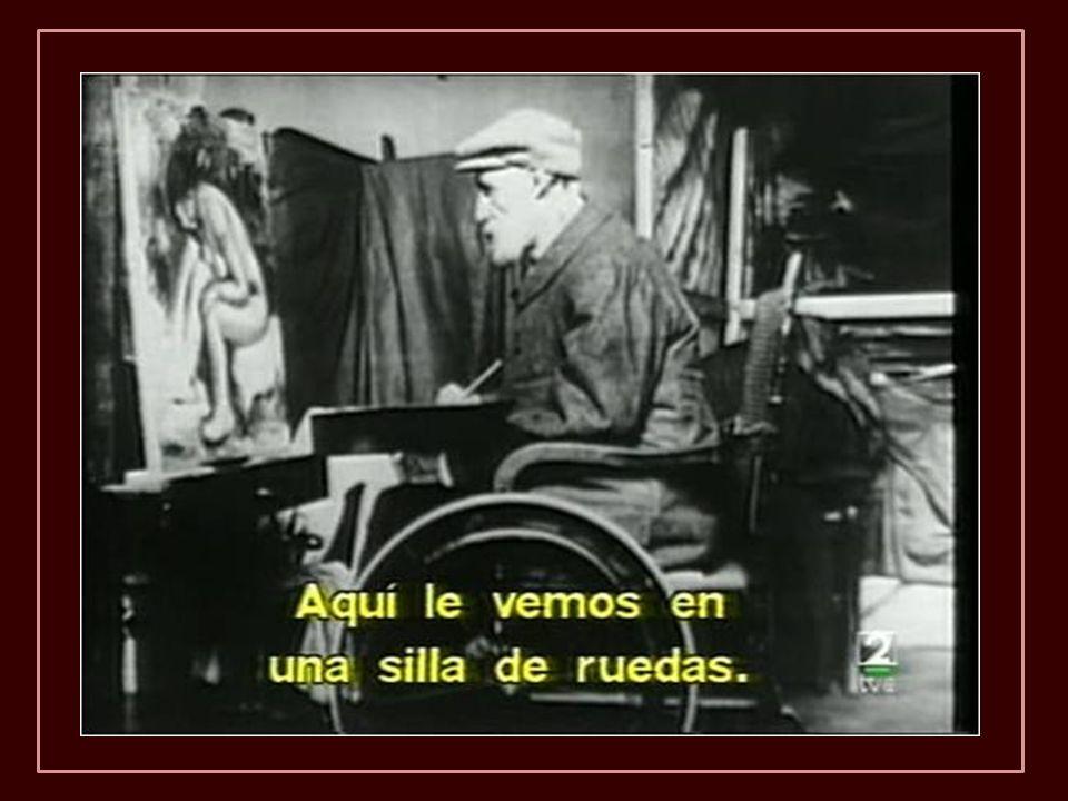 En 1907 pesaba 49 kilos y apenas podía sentarse. Después de 1910 no pudo ya desplazarse con muletas y quedó postrado en una silla de ruedas.