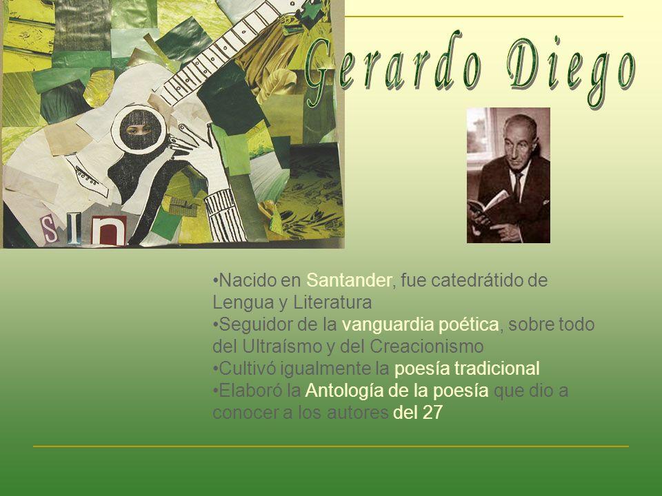 Nacido en Santander, fue catedrátido de Lengua y Literatura Seguidor de la vanguardia poética, sobre todo del Ultraísmo y del Creacionismo Cultivó igu