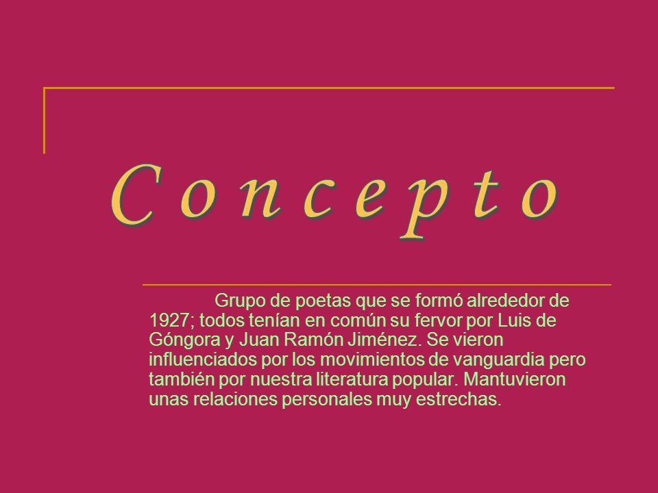 Grupo de poetas que se formó alrededor de 1927; todos tenían en común su fervor por Luis de Góngora y Juan Ramón Jiménez. Se vieron influenciados por
