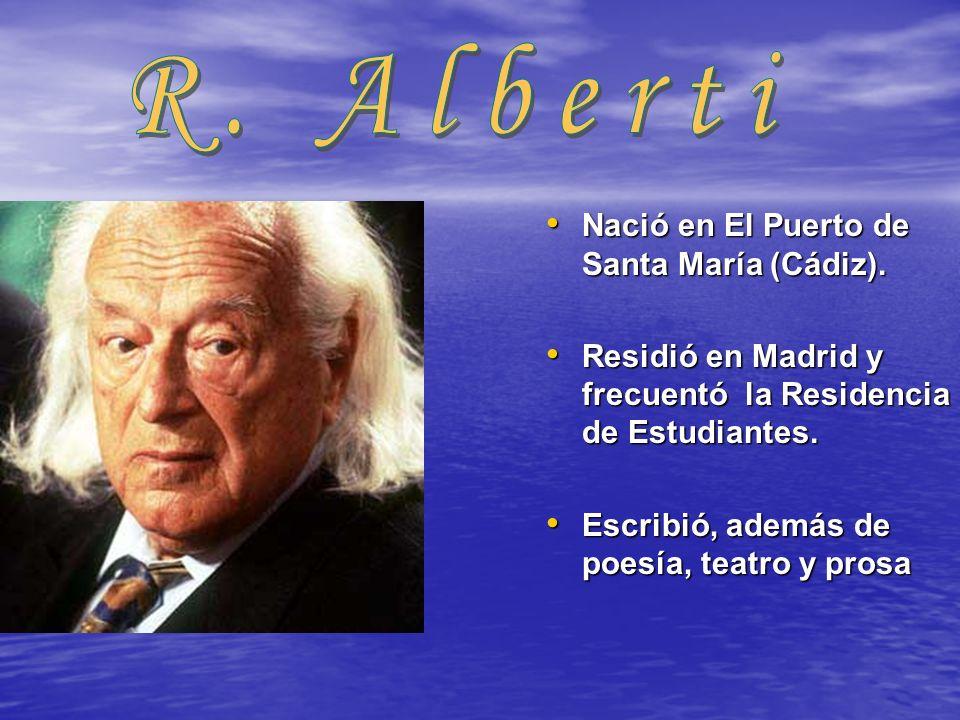 Nació en El Puerto de Santa María (Cádiz). Nació en El Puerto de Santa María (Cádiz). Residió en Madrid y frecuentó la Residencia de Estudiantes. Resi