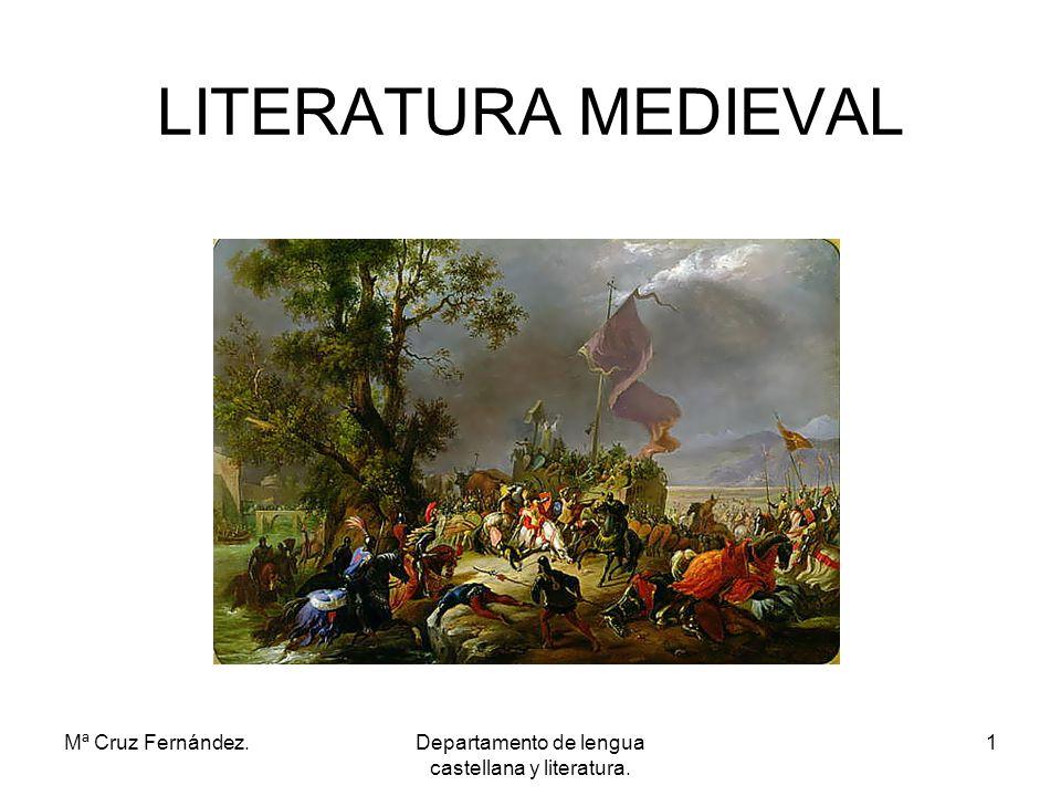 Mª Cruz Fernández.Departamento de lengua castellana y literatura. 2 ERDI AROKO LITERATURA