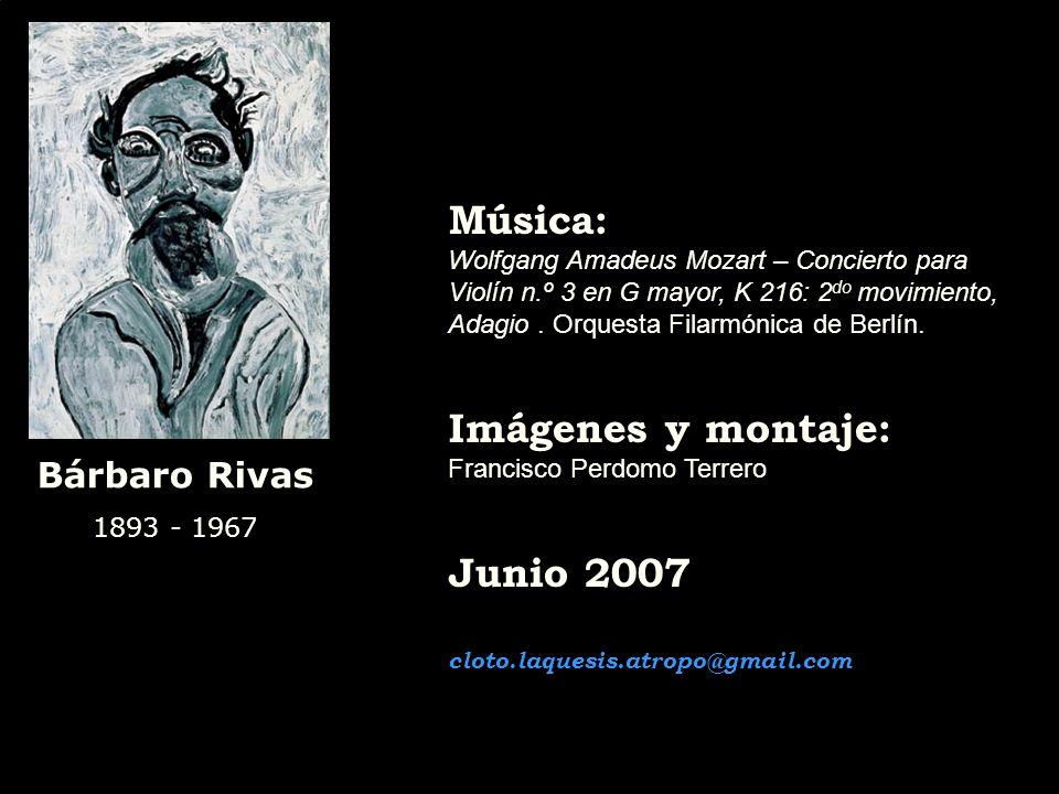Bárbaro Rivas 1893 - 1967 Óleos: Flores – 1960 / col. particular El Juicio Final - 1954 / col. particular El Juicio Final II - 1957 / col. Banco Centr