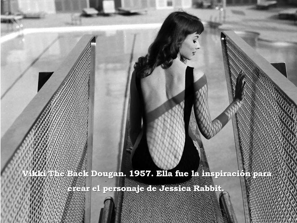 Vikki The Back Dougan.1957. Ella fue la inspiración para crear el personaje de Jessica Rabbit.