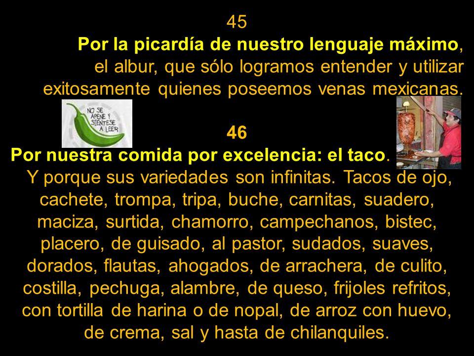 42 Por nuestras míticas etnias mexicanas, alrededor de 70, que van desde las muy veneradas como la Maya, Tarahumara y Otomí, hasta las menos conocidas