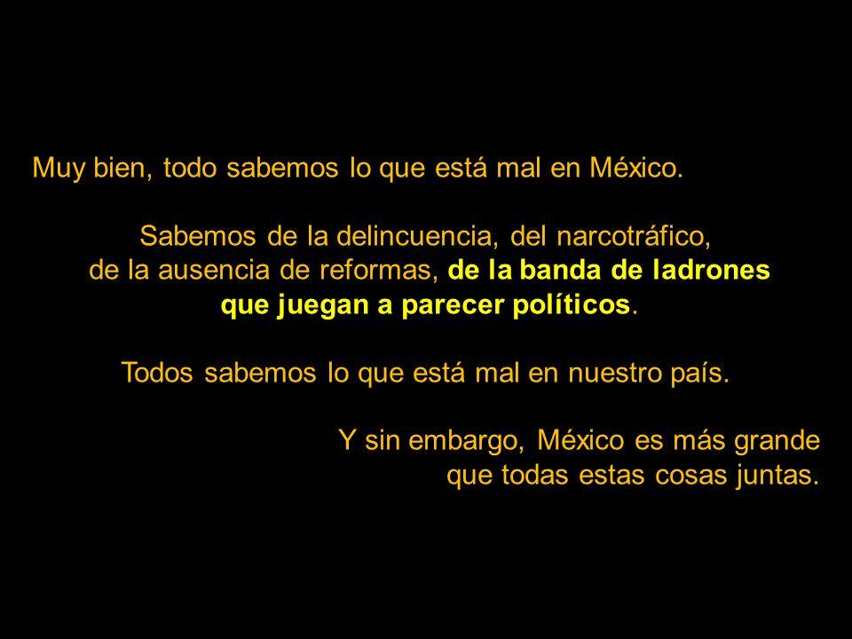 Este me gustó porque nos recuerda que no es el gobierno quien hace a México y a sus mexicanos, sino somos nosotros y la gran riqueza que a pesar de to