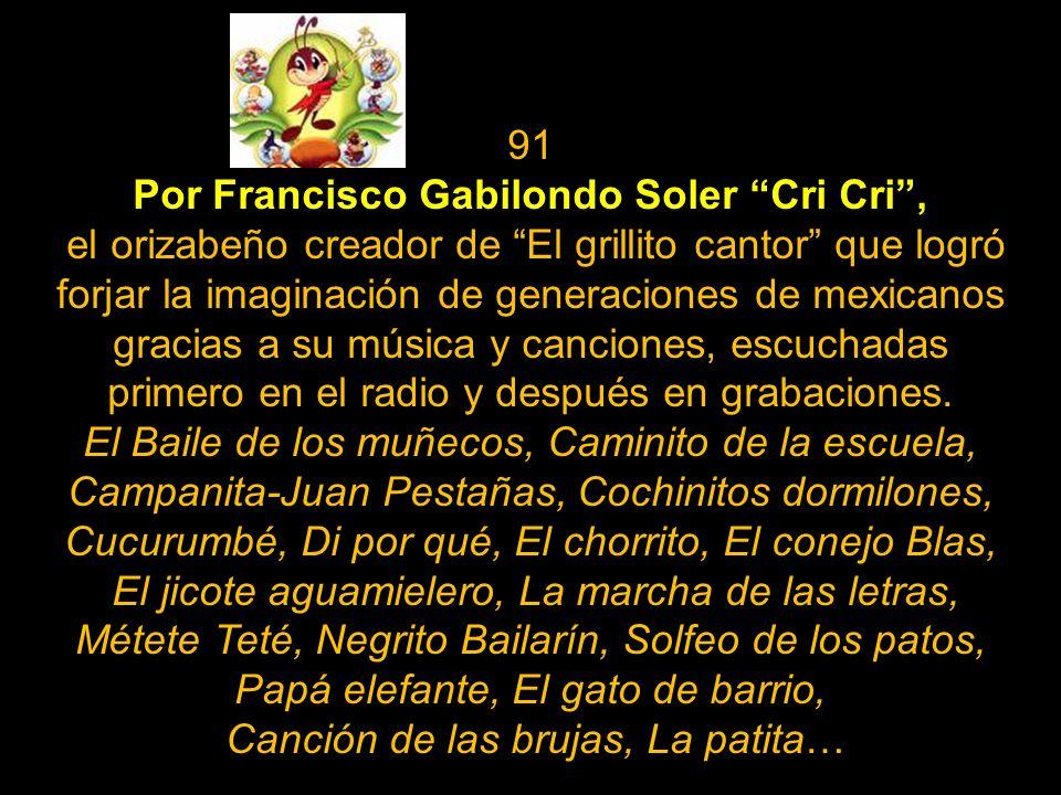 89 Por nuestro cronista musical por excelencia, el gran Salvador Chava