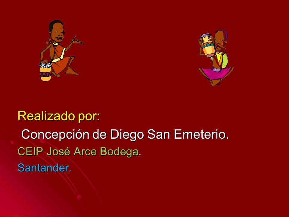Realizado por: Concepción de Diego San Emeterio. Concepción de Diego San Emeterio. CEIP José Arce Bodega. Santander.