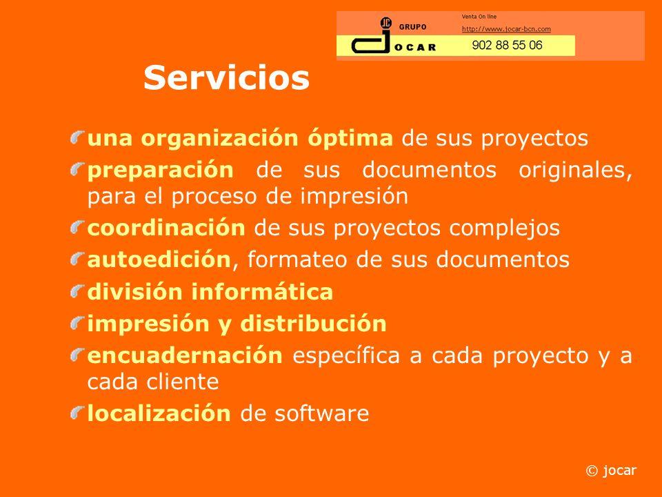 División Informática Jocar les ofrece servicio técnico a domicilio. Seguimiento de su dominio y configuración de los servidores. Venta de ordenadores