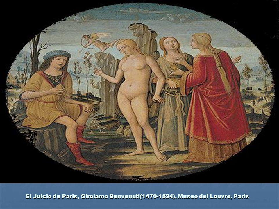 El Juicio de Paris, Girolamo Benvenuti(1470-1524). Museo del Louvre, París
