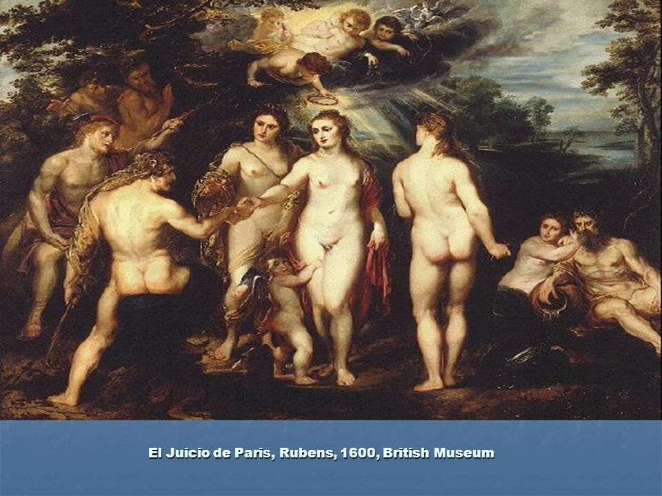 El Juicio de Paris, Rubens, 1600, British Museum