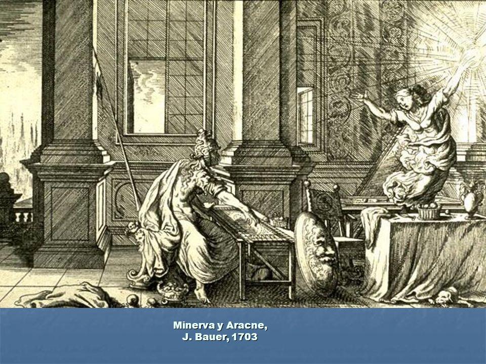 Minerva y Aracne, J. Bauer, 1703