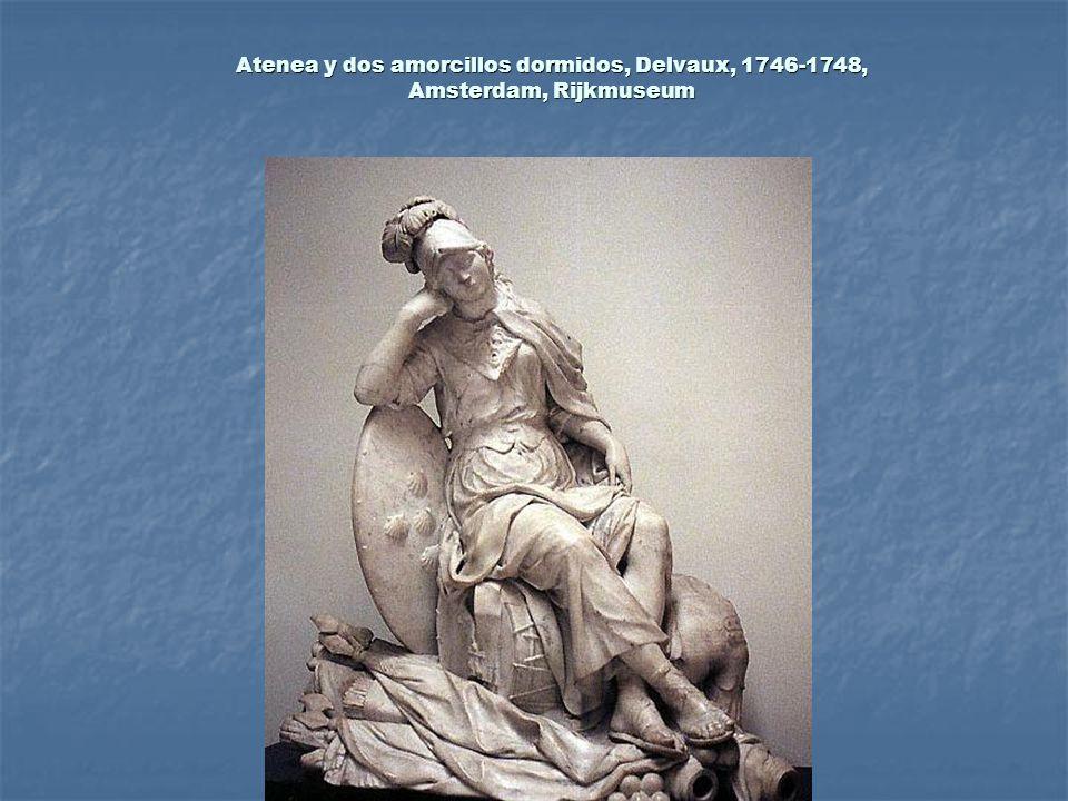 Atenea y dos amorcillos dormidos, Delvaux, 1746-1748, Amsterdam, Rijkmuseum