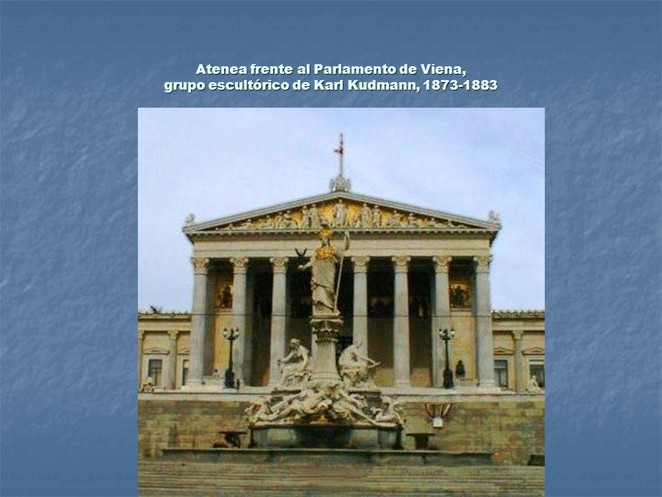 Atenea frente al Parlamento de Viena, grupo escultórico de Karl Kudmann, 1873-1883