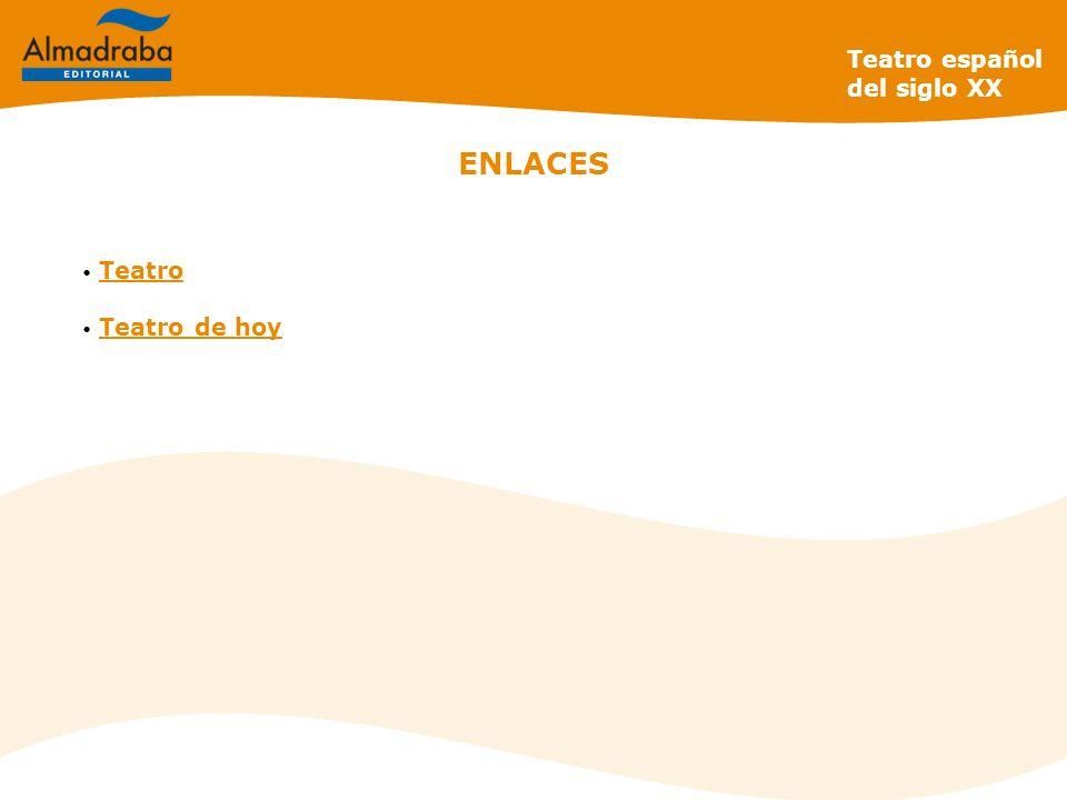 ENLACES Teatro Teatro de hoy Teatro español del siglo XX