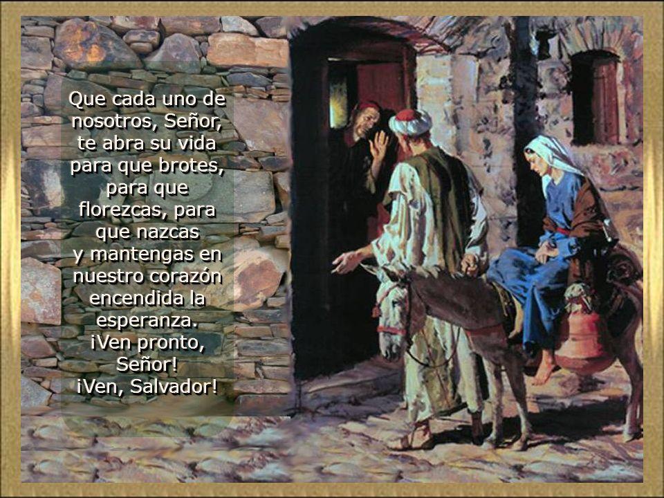 Los profetas mantenían encendida la esperanza de Israel. Nosotros, como un símbolo, encendemos estas dos velas. El viejo tronco está rebrotando; se es