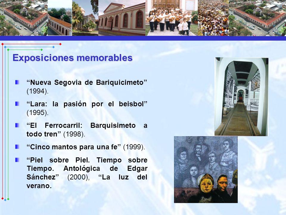 Nueva Segovia de Bariquicimeto (1994). Lara: la pasión por el beisbol (1995). El Ferrocarril: Barquisimeto a todo tren (1998). Cinco mantos para una f