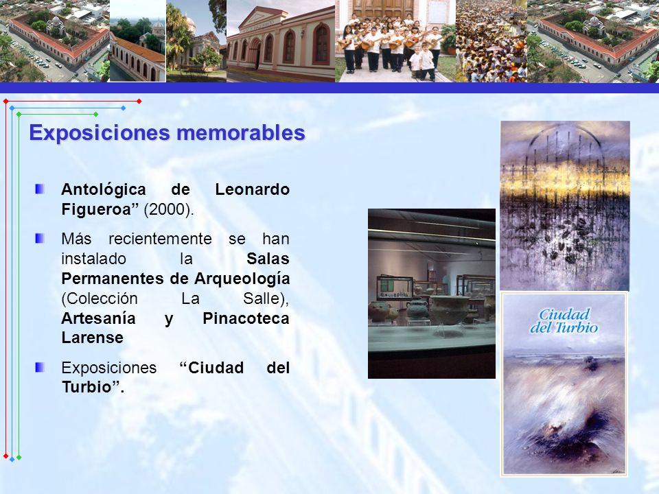 Antológica de Leonardo Figueroa (2000). Más recientemente se han instalado la Salas Permanentes de Arqueología (Colección La Salle), Artesanía y Pinac