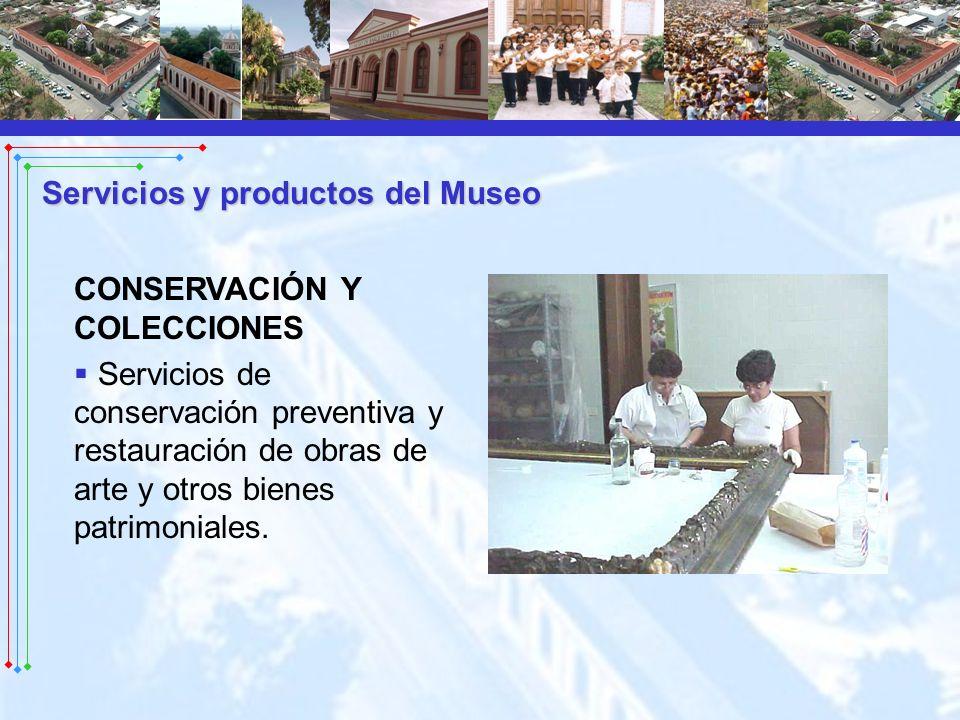 CONSERVACIÓN Y COLECCIONES Servicios de conservación preventiva y restauración de obras de arte y otros bienes patrimoniales.