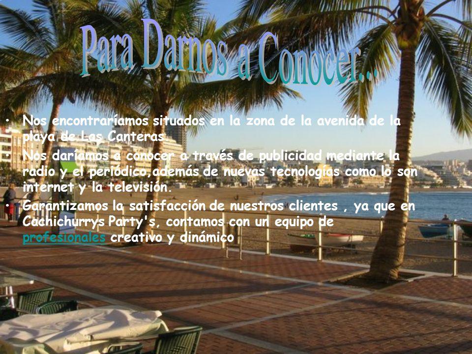 Nos encontraríamos situados en la zona de la avenida de la playa de Las Canteras.