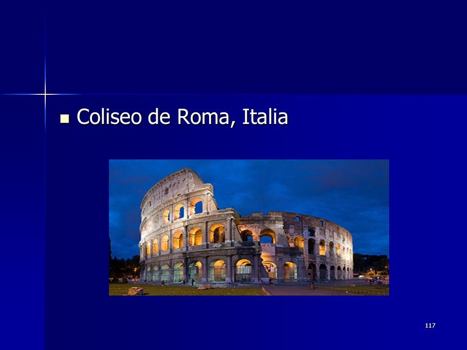 117 Coliseo de Roma, Italia Coliseo de Roma, Italia