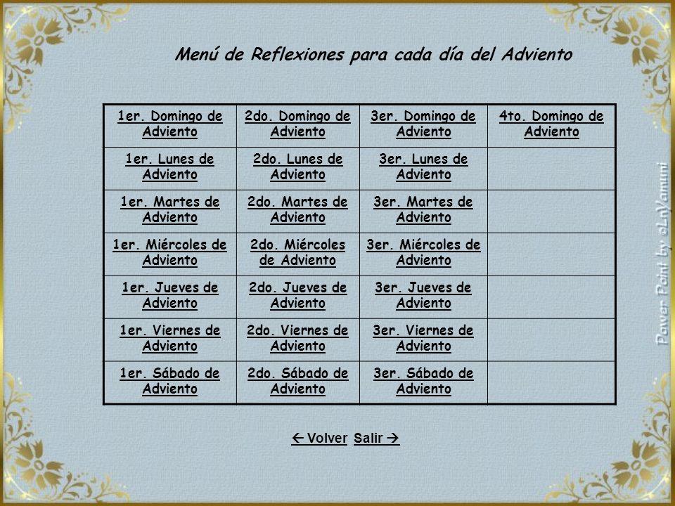 1er.Domingo de Adviento 2do. Domingo de Adviento 3er.