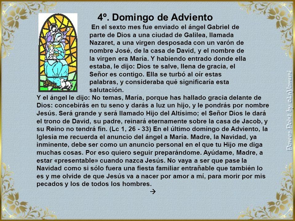 Nuestra Madre ha meditado largamente las palabras de las mujeres y de los hombres santos del Antiguo Testamento, que esperaban al Salvador, y los suce