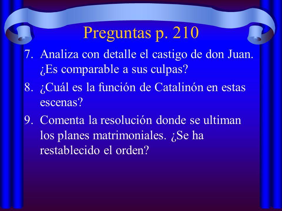 Preguntas p.210 7.Analiza con detalle el castigo de don Juan.