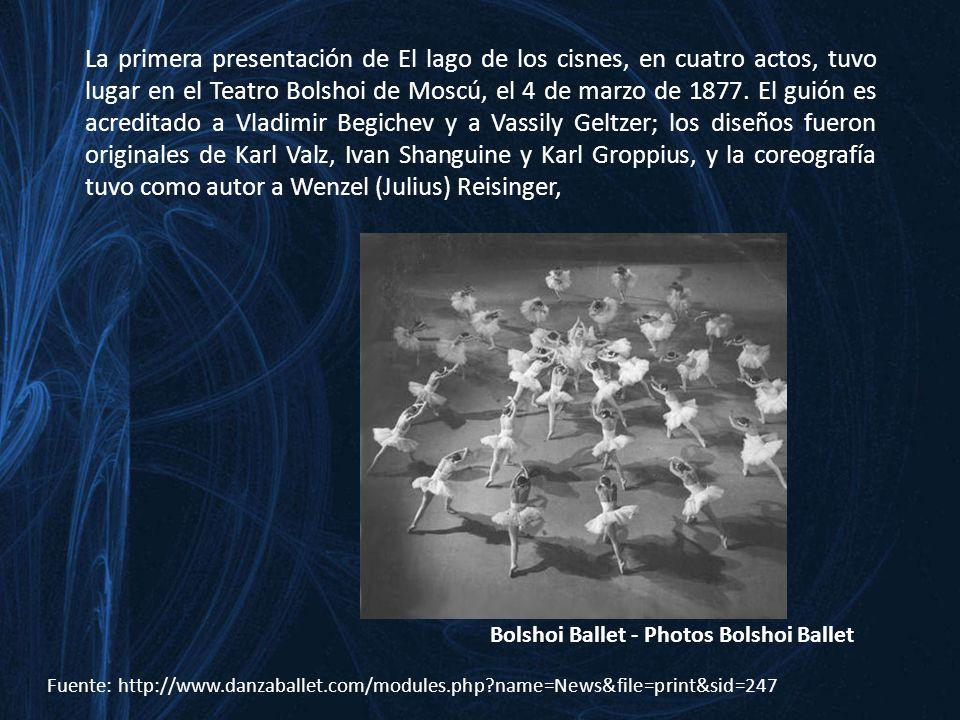Fuente: http://www.filomusica.com/filo31/chaiko.html El lago de los cisnes es, sin duda, una de las obras maestras del ballet clásico tradicional más