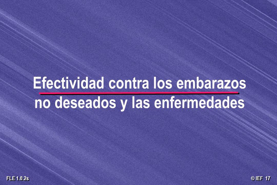 © IEF 17 FLE 1.0.2s Efectividad contra los embarazos no deseados y las enfermedades