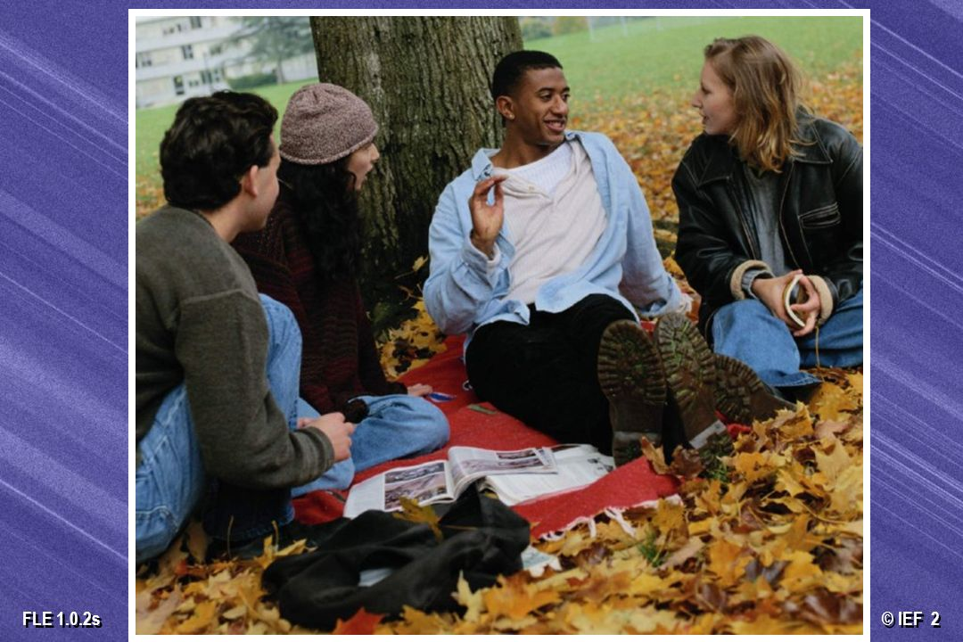 © IEF 73 FLE 1.0.2s La educación basada en el desarrollo del carácter apoya a la mayoría de la juventud La mayoría de los jóvenes norteamericanos son vírgenes Muchos de los que no son vírgenes quieren apoyo para posponer la actividad sexual La mayoría de los jóvenes norteamericanos son vírgenes Muchos de los que no son vírgenes quieren apoyo para posponer la actividad sexual