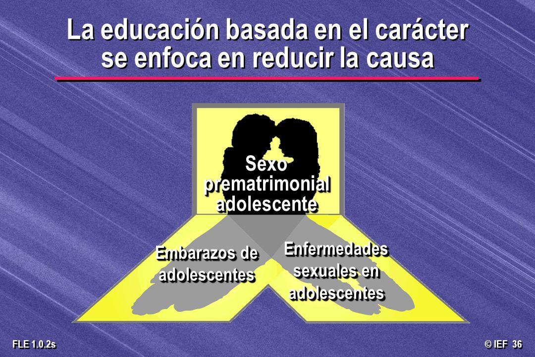 © IEF 36 FLE 1.0.2s La educación basada en el carácter se enfoca en reducir la causa La educación basada en el carácter se enfoca en reducir la causa