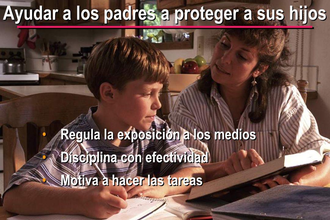 © IEF 49 FLE 1.0.2s Ayudar a los padres a proteger a sus hijos Regula la exposición a los medios Disciplina con efectividad Motiva a hacer las tareas